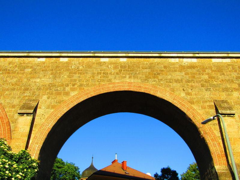 Arch Architecture Built Structure Day Sunny Outdoors Low Angle View Clear Sky Viaduct Liesing Austria Vienna Wien Aquädukt Aquaduct Viadukt