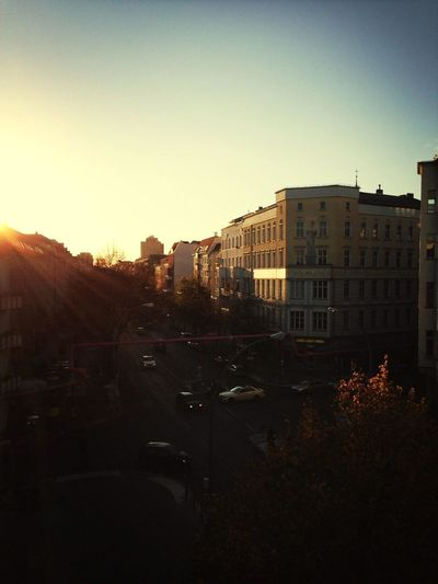 Sunset Autumn Berlin Sky