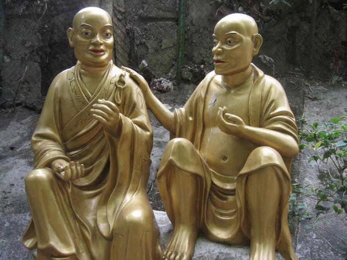 Buddha Buddhism Buddhist Temple Gold Sculpture Ten Thousand Buddhas Monastery Hong Kong Culture Asian Culture