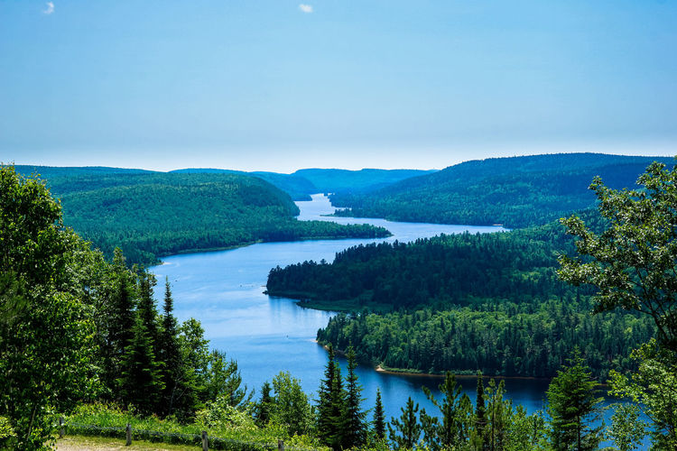La Mauricie National Park 24-240mm Beauty In Nature Blue Calm Canada Coast To Coast Clear Sky Green Color Idyllic Lake Lake View Landscape Mountain Mountain Range National Park Nature Outdoors Park Quebec Scenics Sky Sony A6000 Tranquil Scene Tranquility Tree Water
