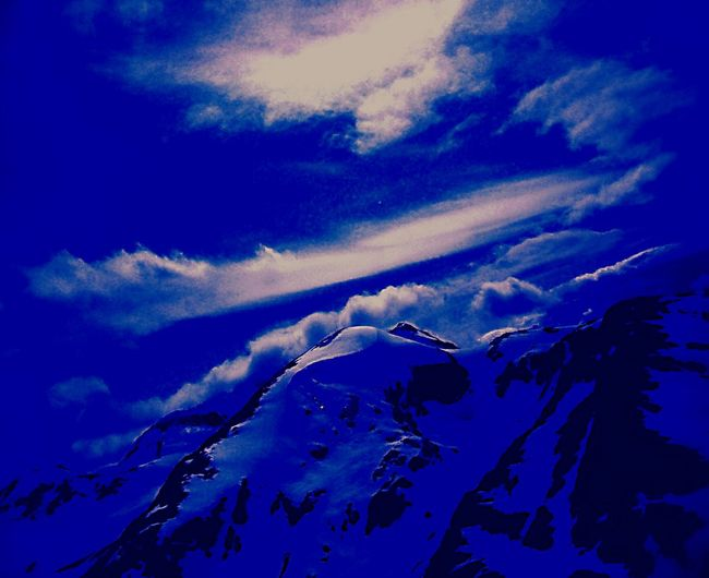 Cobalt Blue By Motorola Mountaintop Side Angle Blues Bluesky Snowcapped Abstract Sky Porn Landscapes