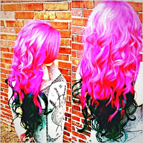 Colorful Pink Hair 😍😘