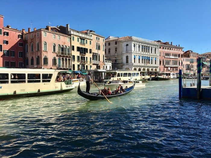Venice Architecture Canal Transportation Built Structure Clear Sky Day Outdoors Travel Destinations Italy Water Sky Gondola - Traditional Boat Enjoying Life Daytime Photography From My Point Of View Outdoor