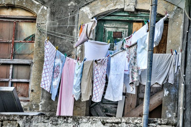 Clothes Clothesline Clothes Hanging Colorful Check This Out Localscene Local Culture Building Exterior Sheets Clothing Line Clothespin Clothing Malephotographerofthemonth From My Point Of View Everything In Its Place Every Picture Tells A Story Talking Pictures Pattern Pieces Pattern, Texture, Shape And Form Textures And Surfaces - Chios Greece