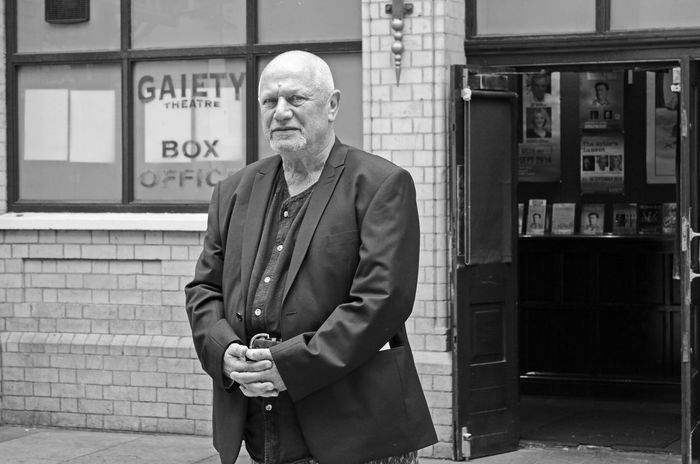 """""""The Actor's lament"""" One Person Adult Men Standing Looking At Camera Males  Front View Real People Portrait Senior Adult Architecture Lifestyles Senior Men Serious Mature Men Day Clothing Casual Clothing Contemplation Actor Gaiety Theater Steven Berkoff"""