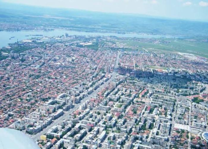 Drobeta-turnu-severin Aerial Shot The City From Above Missing Home
