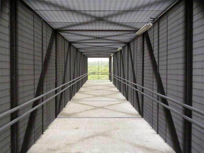 Walkway In Covered Bridge