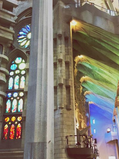 Sagrada Familia Barcelona, Spain Architecture Built Structure Building Exterior Multi Colored No People Building Place Of Worship Architecture Religion Place Of Worship Glass - Material Creativity Travel Destinations Spirituality Architectural Column