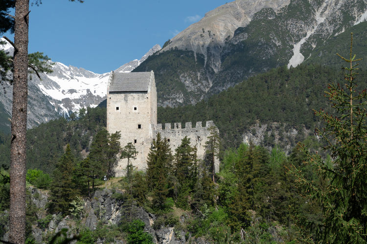 Kronburg Kirche Tower Ruined Tyrol Zams Outdoors No People Nature Architecture Built Structure Tree Plant Church Mountain Beauty In Nature Mountain Range Day Sky Scenics - Nature Growth Green Color Environment Cold Temperature Landscape Snow Travel Mountain Peak Snowcapped Mountain Formation