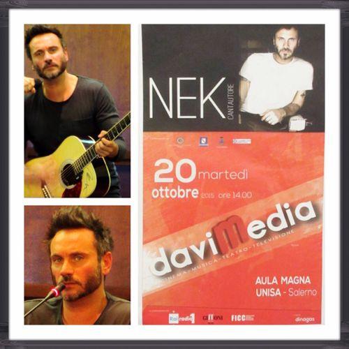 GraziE Nek :) Prima di parlare Live 2015  Davimedia Unisa Salerno