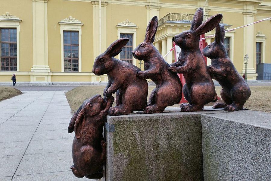 Rabbits Sculpture