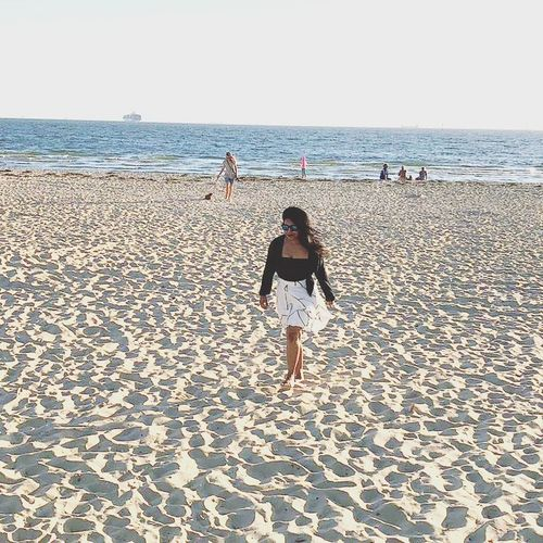 it was a beach day 😊😊😊 Melbourne MelbournePhotographer Travel Travel Photography Myself Me Fashion Womensfashion Rear View Outdoors Day Love Yourself