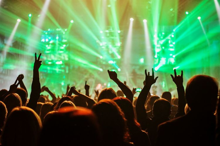 Crowd Hands Up Celebrating Open Edit Live Music Concert Party Stage Lights For The Love Of Music Sound Of Life Music Brings Us Together