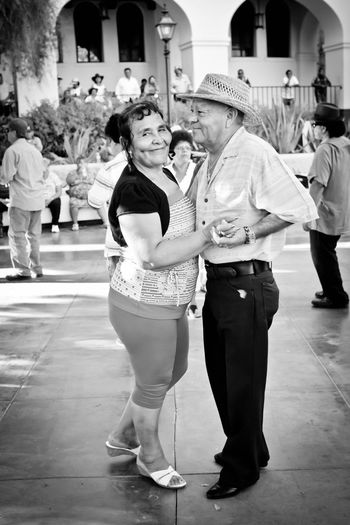 Olvera Street Dancing Taking Photos Blackandwhite