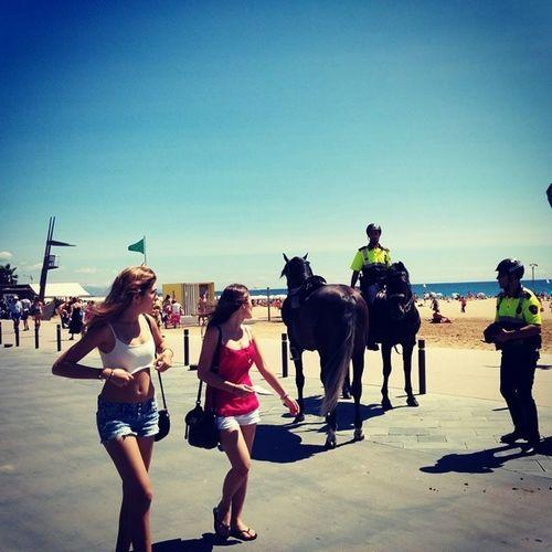 Barcelona Beach Horsepolice