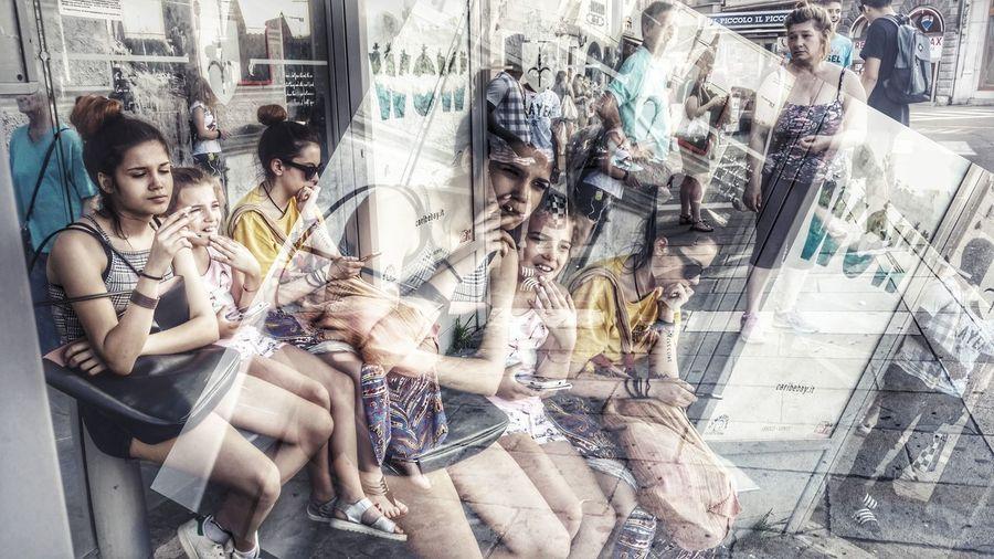Waiting bus....