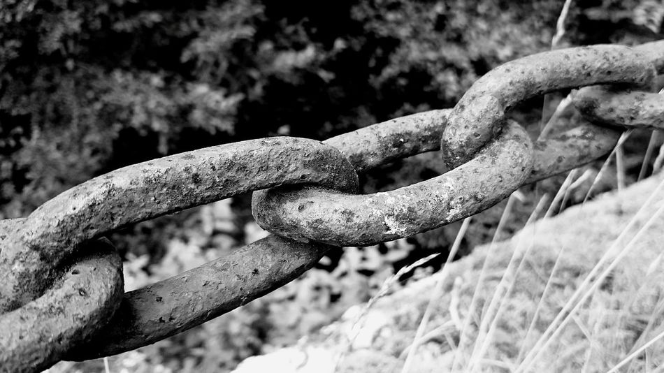 """Holding on"" Shapes Chains Shades Strong Conecting Better Together Hanging On Black And White Photography"