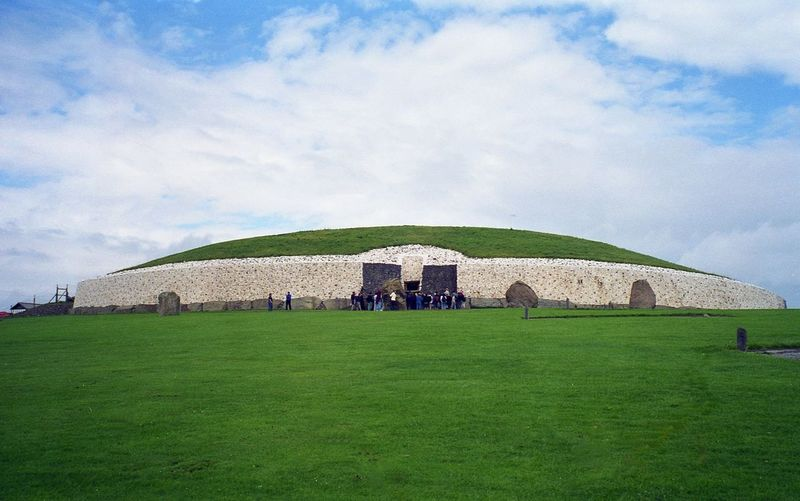 Newgrange Prehistoric Monument Built Structure Field Cloud - Sky Outdoors Sky Day Architecture Grass Building Exterior Nature