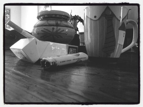 Coffee & Cigarettes Black & White Morning Coffee