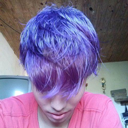 Quanto mais roxo melhor... :) Roxo Cabeloroxo New Newvisual followyoubackalways amoRoxo