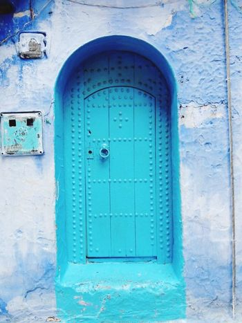 My Travel  in Morocco Travel Photography Street Photography Chefchaouen Moroccan Blue City Morocco Blues Old Doors Blue Door Door_series Chefchaouen Medina