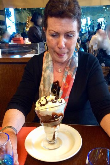 Ice Cream Restaurant Real People One Person Indoors  Paris D'Orsay France🇫🇷 Paris ❤