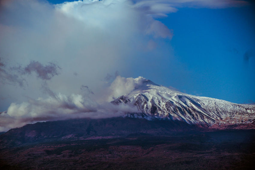 Beauty In Nature Cloud - Sky Cold Temperature Day Etna Etna Volcano Etna, Mountain, Sicily, Landscape Mountain Nature No People Outdoors Scenics Sicilia Sicily Sicily ❤️❤️❤️ Sicily, Italy Sky Snow Taormina Tranquility Winter