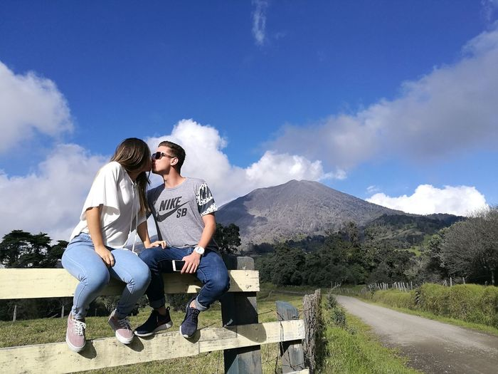 Volcano Turrialba Love Blue Cloud - Sky Lifestyles Passion Real People Sun Sky Mountain