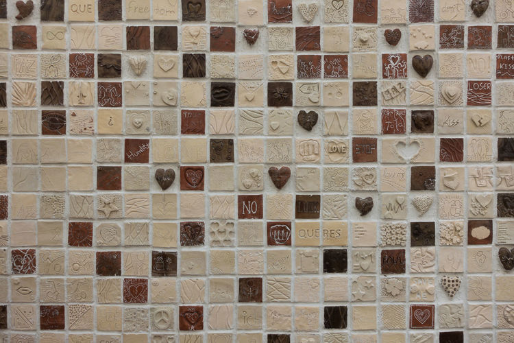 Square mosaics with hearts and romantic themes in Ponta do Sol Artist Love Madeira Mosaic Panorama Panoramic Portugal Portuguese Romance Romantic Travel Art Backgrounds Colorful Culture Design Heart Hearts Island Mosaico Pattern Ponta Do Sol Shape Squares Tiles