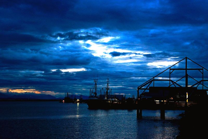 Steveston Village Marina at nightfall... Nightphotography Sundown Randomshot Marina Steveston