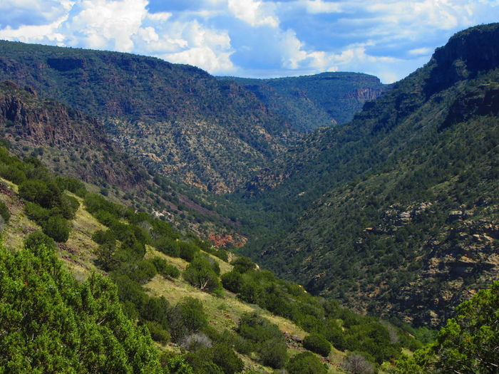 The upper reaches of Wet Beaver Creek, Wet Beaver Wilderness, Arizona. Arizona Beauty In Nature Canyon Cliff Cloud - Sky Day Geology Landscape Mountain Mountain Range Nature No People Outdoors Scenics Sky Tranquil Scene Tranquility Wilderness Perspectives On Nature