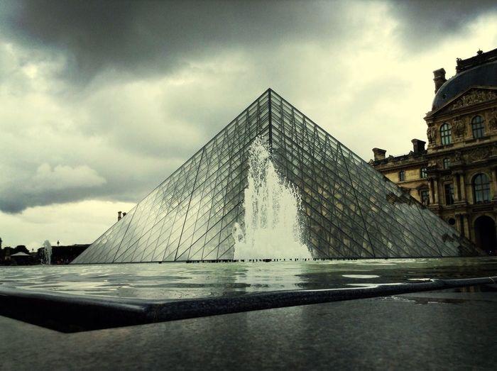 PARIS - city of LOVE Paris Louvre Fontain Clouds