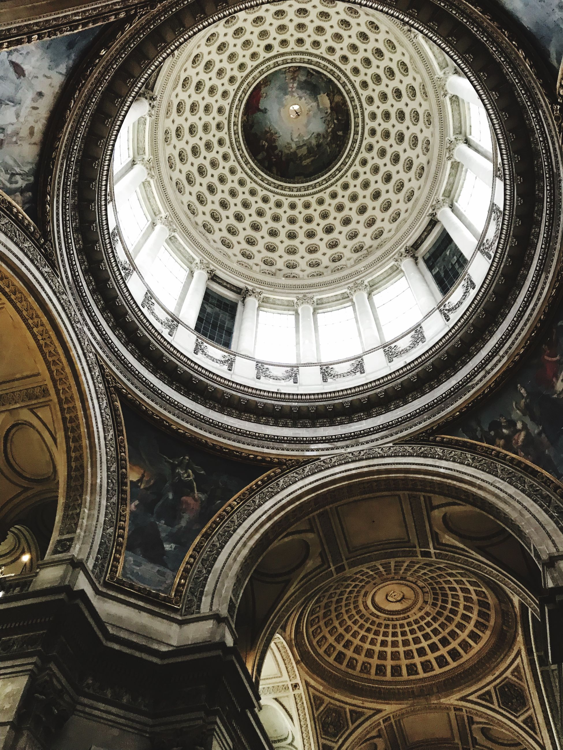 architecture, built structure, low angle view, dome, place of worship, ornate, religion, travel destinations, architectural feature, no people, spirituality, day, indoors, cupola