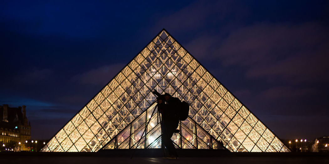 Architecture Architecture Empty France Glass Human Lighting Louvre Museum Paris Photographer Pyramid Sunset Tourism Twilight