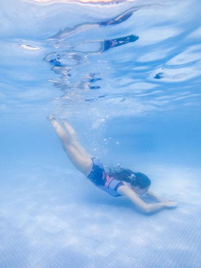 Full length of woman swimming in pool