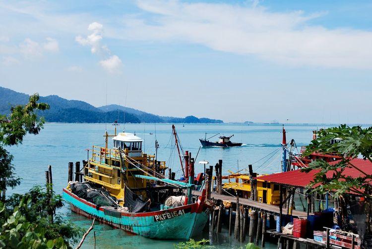 Nautical Vessel Sea Water Outdoors Ship Day Sky Beach Scenics Harbor Jetty No People Nature Neighborhood Map Pangkor Island