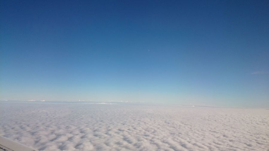 Hey! Lets jump out From An Airplane Window and run On The Cloud s ?! Clouds And Sky Berlin To Tallinn