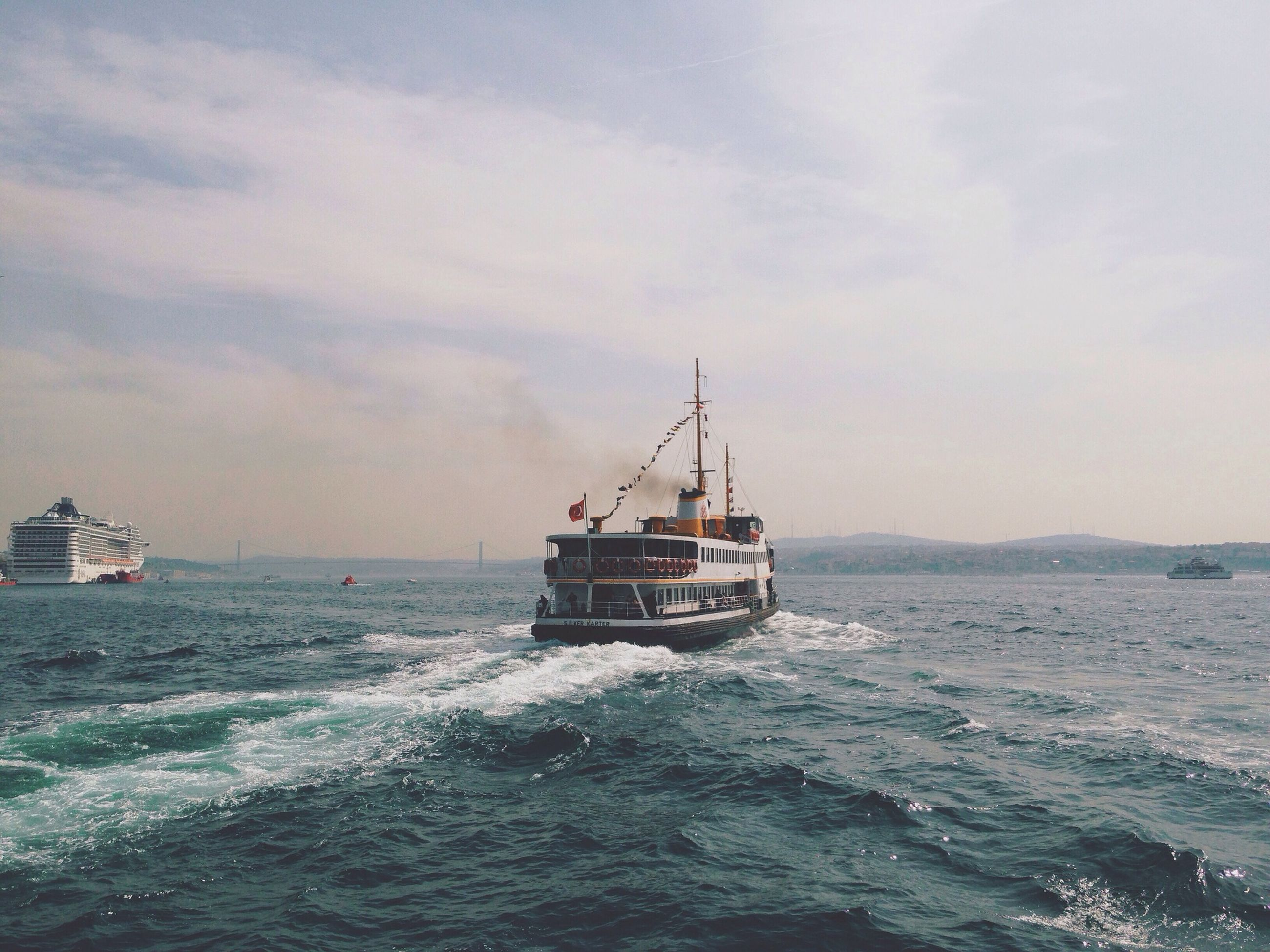nautical vessel, sea, transportation, mode of transport, water, boat, waterfront, sky, horizon over water, sailing, scenics, beauty in nature, nature, tranquil scene, tranquility, cloud - sky, rippled, travel, ship, sailboat
