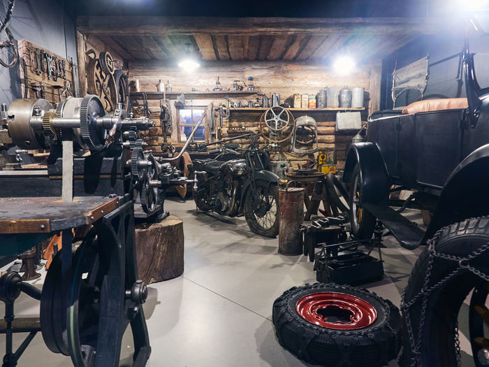 Bicycles in garage