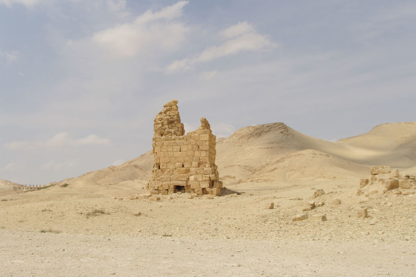 Palmyra Ruins Syria  Ancient Ancient Civilization Architecture Arid Climate Beauty In Nature Built Structure Day Desert History Landscape Mountain Nature No People Outdoors Palmyra Scenics Sky Travel Destinations