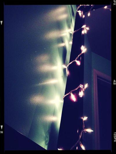 I love having Christmas lights in my room