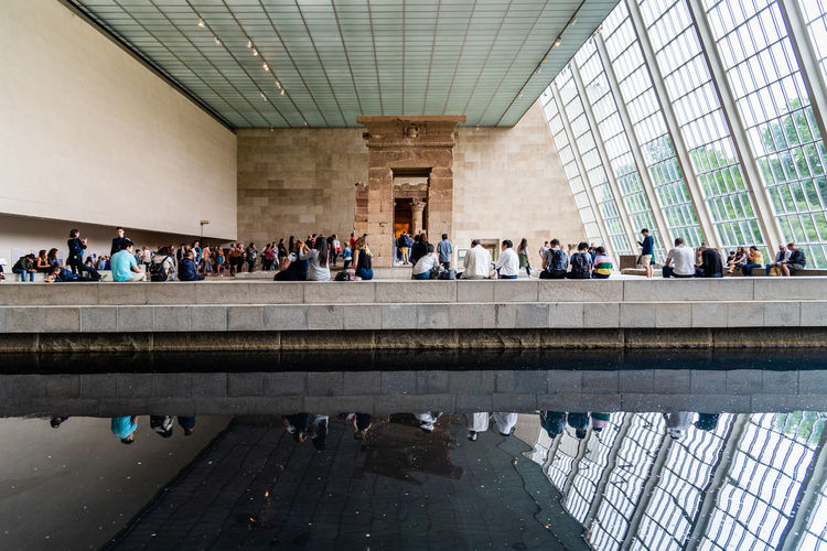 Egyptian Hall in Metropolitan Museum of Art in NYC Architecture Real People Built Structure NYC Manhattan Large Group Of People Crowd Group Of People Men Women Adult Lifestyles Travel Destinations MetropolitanMuseumofArt Metropolitan Culture Museum Of Modern Art Landmark Art Arts Culture And Entertainment Dendur Temple Egypt Egyptian American Indoors  Walking Travel Leisure Activity Waiting City Ceiling Tourism Architectural Column