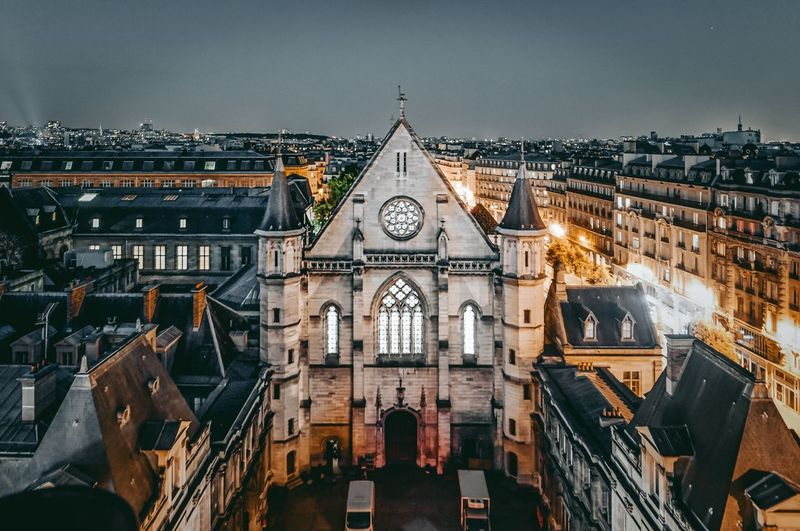 Castle look Explore Exploring Photography Rooftop Roof Photography Paris Castle Architectural Column Architecture Architecture Built Structure Place Of Worship Building Exterior Spirituality Outdoors Day No People Sky
