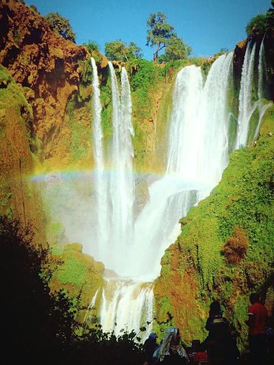 Morroco Cascade Ouzoud EyeEm Nature Lover Mountain View Waterfalls Rainbowfalls Rainbow