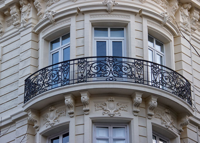 Architecture Built Structure Building Exterior Building Window No People Low Angle View Balcony Day Pattern Ornate City Design House Backgrounds Outdoors Architectural Feature Architectural Column Arch Residential District Luxury
