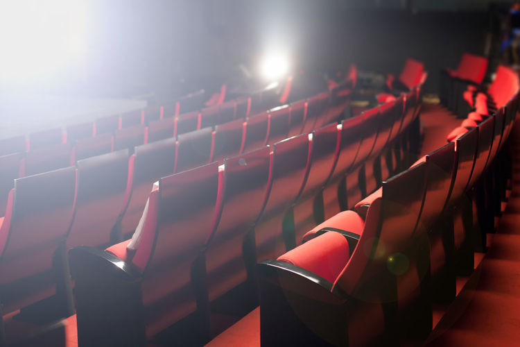 View Of Empty Chairs In Movie Theater
