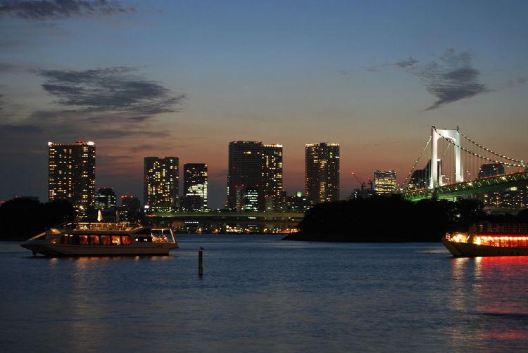 Rainbow Bridge Tokyo Tokyo Bay Tokyo Bridge City Cityscape Skyline Tokyo Skyscraper Urban Skyline Waterfront