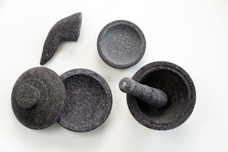 Mortar and pestle made from black sand Asakusa Car Close-up Green Color Growth Handmade Home Made Home Meal Indoors  Lid Mortar No People Pestle Plate S Scenics Sky Studio Shot White Background