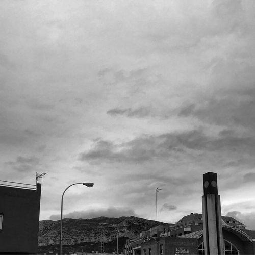 Denia SPAIN Mountain Morning Blackandwhite Black & White Streetlights Clouds And Sky