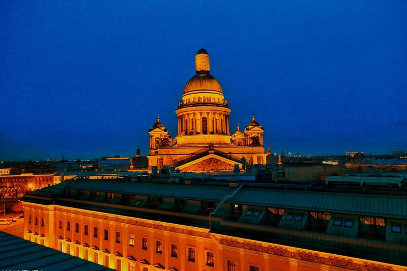 EyeEmNewHere st. ISAAC'S Cathedral , St. Petersburg, Russia. View from Hotel W (terrace) HotelW Stpetersburg Architecture Tourism Travel Destinations Arts Culture And Entertainment Cityscape Landscape The Great Outdoors - 2018 EyeEm Awards